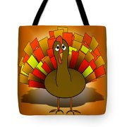 Worried Turkey Illustration Tote Bag