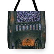 Worship In Notre Dame Tote Bag