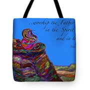 Worship The Father Tote Bag