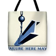 Wpa Vintage Safety First Tote Bag