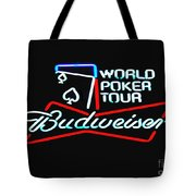 Wpt And Budweiser Tote Bag