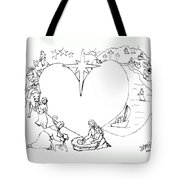 Wrapped In The Arms Of His Love Tote Bag