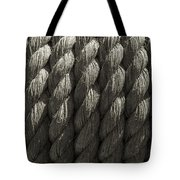 Wrapped Up Tight Sepia Tote Bag