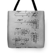 Wrench Patent Drawing Tote Bag