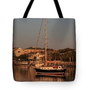 Wrightsville Beach Boat In Harbor Tote Bag