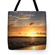 Wrightsville Beach Sunset Tote Bag