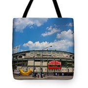 Wrigley Field And Clouds Tote Bag