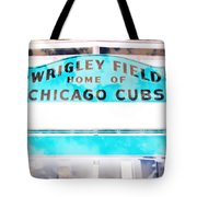 Wrigley Field Sign - X-ray Tote Bag