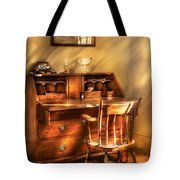 Writer - A Chair And A Desk Tote Bag by Mike Savad