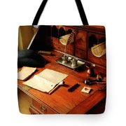 Writer - The Desk Of A Gentleman  Tote Bag