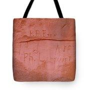 Writing In The Desert Tote Bag