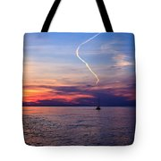 Writing In The Sky Tote Bag