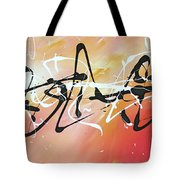 Writing On The Wall By Madart Tote Bag