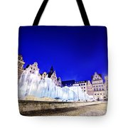 Wroclaw Poland The Market Square And The Famous Fountain At Night Tote Bag