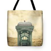 Wrong Train Right Station Tote Bag by Edward Fielding