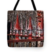 Wrought Iron Fence Spears Tote Bag