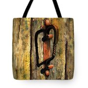 Wrought Iron Handle Tote Bag