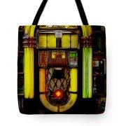 Wurlitzer 1946 Jukebox - Featured In Comfortable Art Group Tote Bag