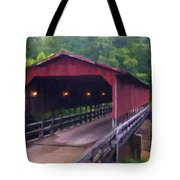 Wv Covered Bridge Tote Bag