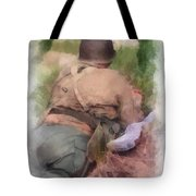 Ww II Us Army Soldier Photo Art Tote Bag