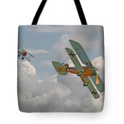 Ww1 - Fighting Colours Tote Bag by Pat Speirs
