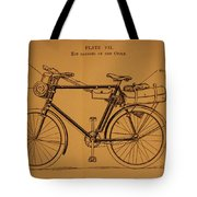 Ww1 Military Bicycle Tote Bag