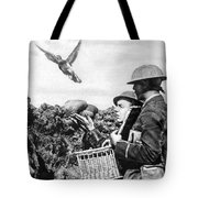 Wwi Releasing British Carrier Pigeon Tote Bag