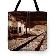 Rails West Tote Bag