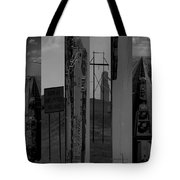 Wyoming Coal Mine Composition Black And White Tote Bag