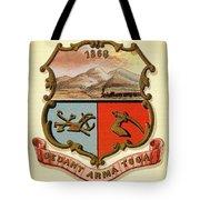 Wyoming Coat Of Arms - 1876 Tote Bag