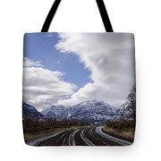 Wyoming Road Tote Bag