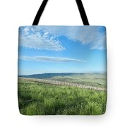 Wyoming Snow Fence Tote Bag