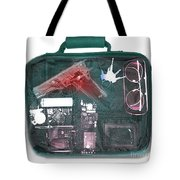 X-ray Of A Briefcase With A Gun Tote Bag
