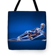 X-ray View Of A Woman Laying Tote Bag