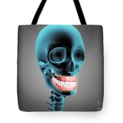 X-ray View Of Human Skeleton Showing Tote Bag by Stocktrek Images
