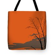 Abstract Tropical Birds Sunset Large Pop Art Nouveau Landscape 3 - Left Side Tote Bag