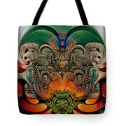 Xiuhcoatl The Fire Serpent Tote Bag by Ricardo Chavez-Mendez
