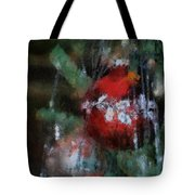 Xmas Red Ornament Photo Art 03 Tote Bag
