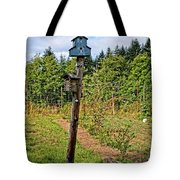 Yachats  Oregon - Blue Birdhouse Tote Bag