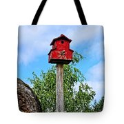 Yachats Red Birdhouse Tote Bag