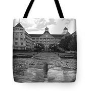 Yacht And Beach Club In Black And White Walt Disney World Tote Bag