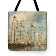 Yacht Basin At Trouville Deauville Tote Bag