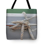 Yacht Secured To A Jetty  Tote Bag
