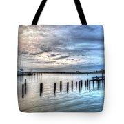 Yacht Storming Morning Tote Bag