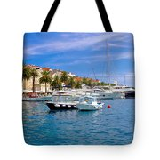 Yachting Harbor Of Hvar Island Tote Bag