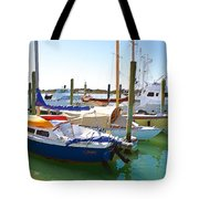 Yachts In A Port 4 Tote Bag