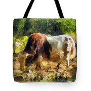 Yak Having A Snack Tote Bag