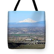 Yakima Valley Outlook With Mount Adams Tote Bag