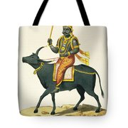 Yama, God Of The Invisible World Tote Bag
