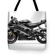 Yamaha R6 Supersport Motorcycle Tote Bag